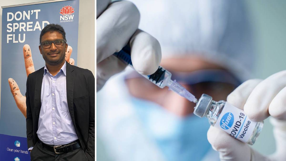 LEFT: Dr Alam Yoosuff responds to common questions about the COVID-19 vaccine. Pictures: Supplied/File shot