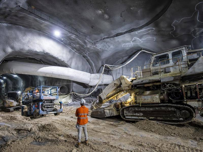 Two large caverns beneath Sydney's Martin Place are ready for the building of a new Metro station.
