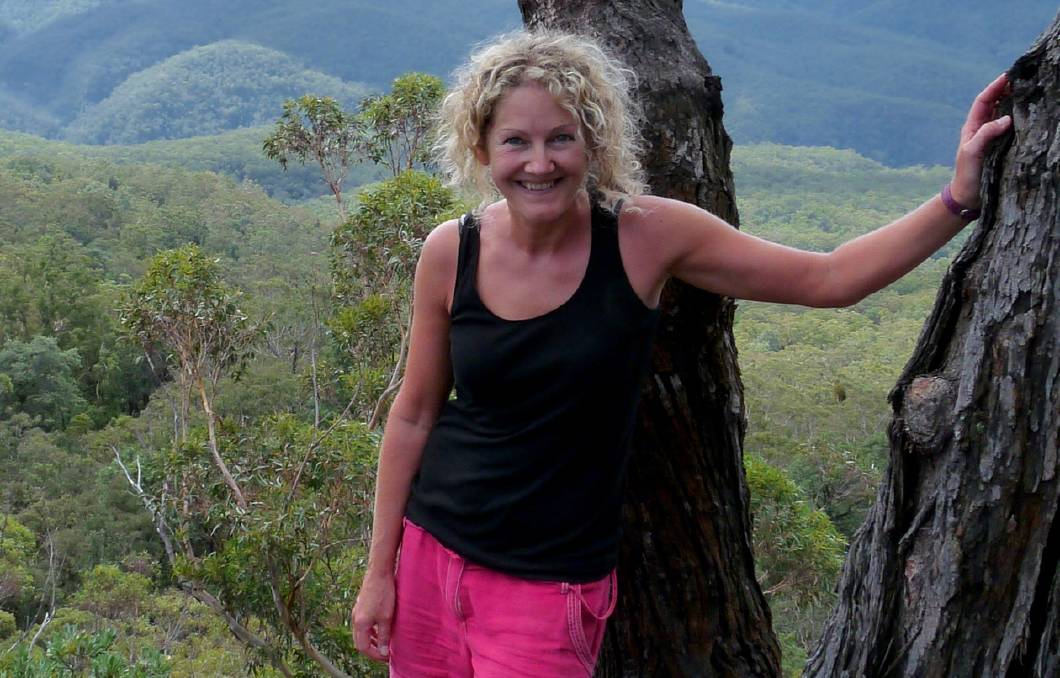 Leeds resident Sharon Cracknell in the Blue Mountains last year, where she penned her first travel book while on a six-month homestay in Warrimoo.